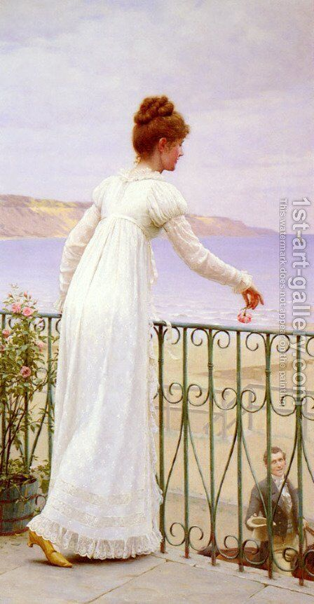 A Favour by Edmund Blair Blair Leighton - Reproduction Oil Painting