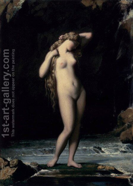 The Bather by Henri Lehmann - Reproduction Oil Painting