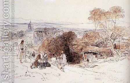 Camerino, 1849 by Edward Lear - Reproduction Oil Painting