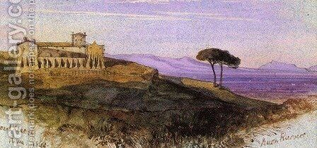 A View in the Roman Compagna by Edward Lear - Reproduction Oil Painting