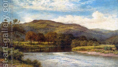 The Conway Near Bettws y Coed by Benjamin Williams Leader - Reproduction Oil Painting