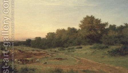 The Sandpit, Burrow's Cross by Benjamin Williams Leader - Reproduction Oil Painting