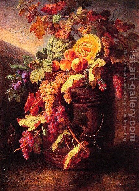 Luscious Fruits by Jean Pierre Lays - Reproduction Oil Painting