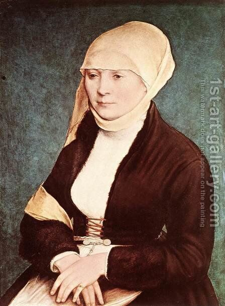 Presumed Portrait of the Artist's Wife by Hans, the Younger Holbein - Reproduction Oil Painting