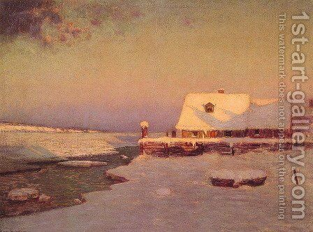 Winter Twilight by Birge Harrison - Reproduction Oil Painting