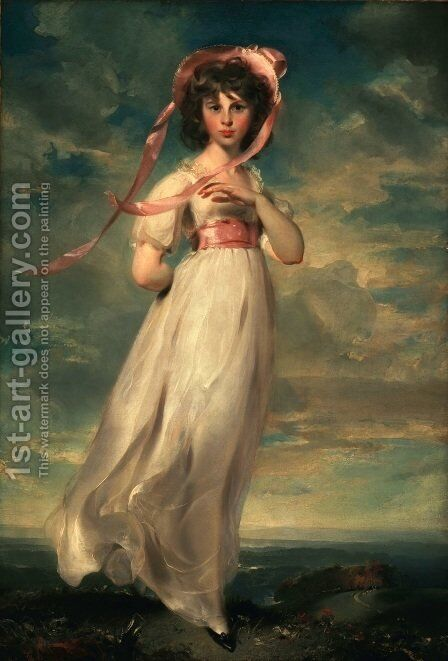 Pinkie (Sarah Barrett Moulton) by Sir Thomas Lawrence - Reproduction Oil Painting