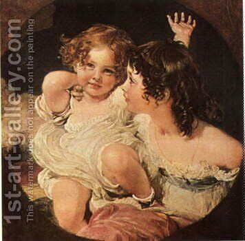 Calmady Children by Sir Thomas Lawrence - Reproduction Oil Painting