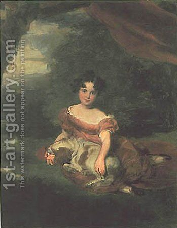 Portrait of Miss Peel by Sir Thomas Lawrence - Reproduction Oil Painting
