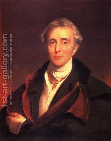 Portrait Of The Duke Of Wellington by Sir Thomas Lawrence - Reproduction Oil Painting