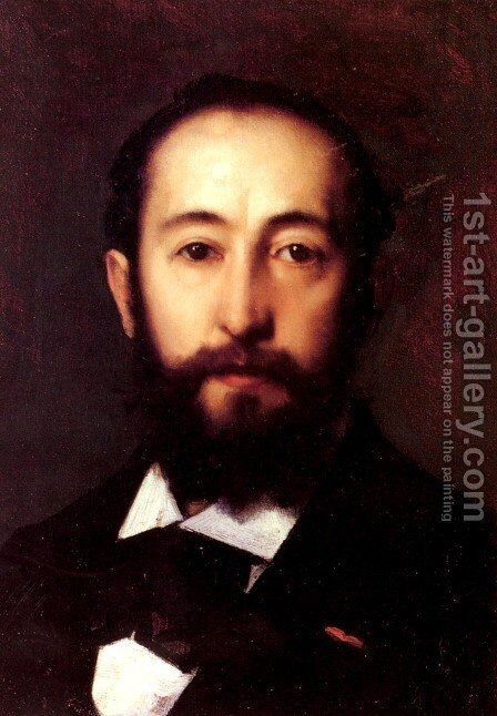 Portrait D'Homme (Portrait Of A Man) by Jean-Jacques Henner - Reproduction Oil Painting
