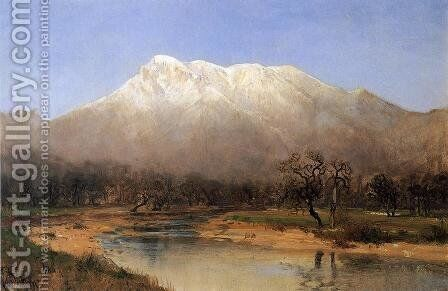 Mount St. Helena, Napa Valley by Thomas Hill - Reproduction Oil Painting