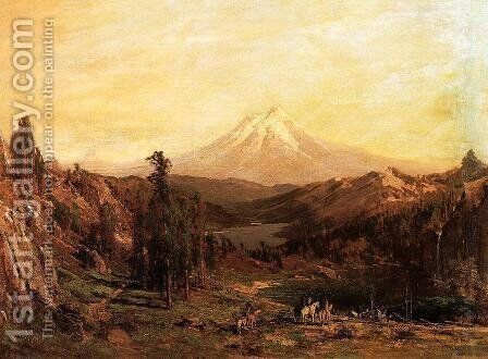 Mount Shasta and Castle Lake, California by Thomas Hill - Reproduction Oil Painting