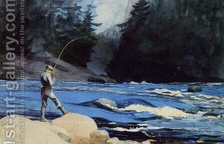 Quananiche, Lake St. John by Winslow Homer - Reproduction Oil Painting