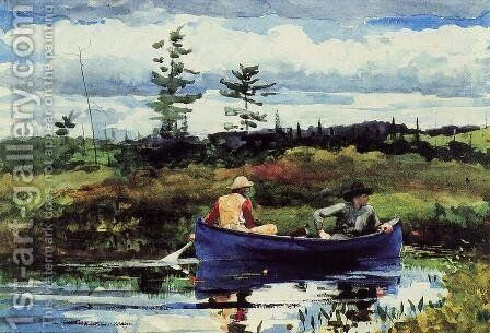 The Blue Boat by Winslow Homer - Reproduction Oil Painting