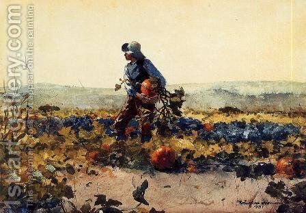 For the Farmer's Boy (old English Song) by Winslow Homer - Reproduction Oil Painting