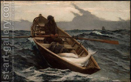 The Fog Warning by Winslow Homer - Reproduction Oil Painting