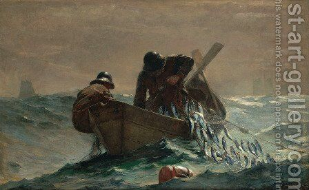 The Herring Net by Winslow Homer - Reproduction Oil Painting