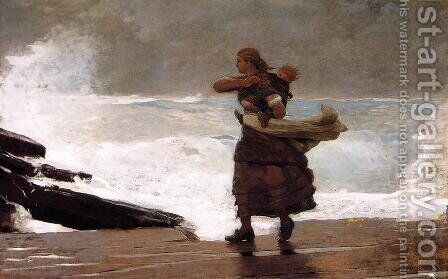 The Gale by Winslow Homer - Reproduction Oil Painting