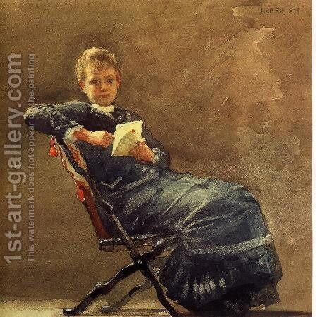 Girl Seated by Winslow Homer - Reproduction Oil Painting