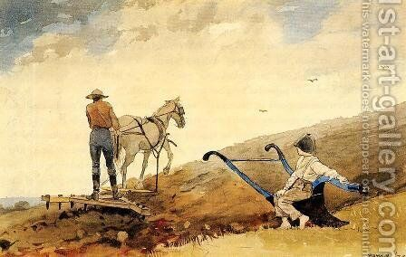 Harrowing by Winslow Homer - Reproduction Oil Painting