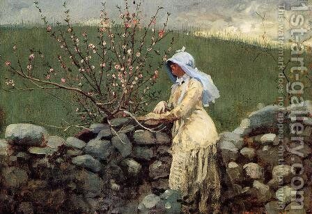Peach Blossoms by Winslow Homer - Reproduction Oil Painting