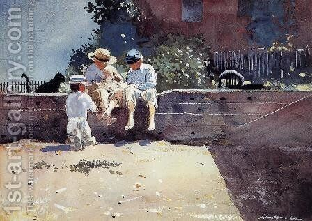 Boys and Kitten by Winslow Homer - Reproduction Oil Painting