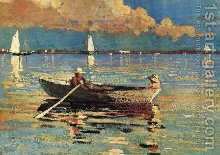 Gloucester Harbor by Winslow Homer - Reproduction Oil Painting