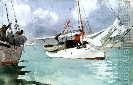 Fishing Boats, Key West by Winslow Homer - Reproduction Oil Painting