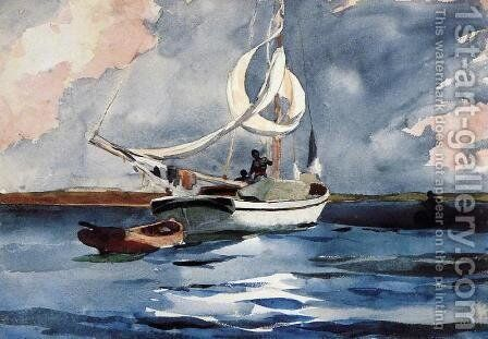 Sloop, Nassau by Winslow Homer - Reproduction Oil Painting