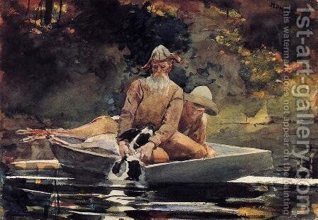 After the Hunt by Winslow Homer - Reproduction Oil Painting