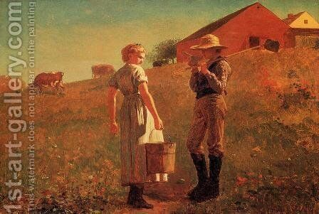A Temperance Meeting (or Noon Time) by Winslow Homer - Reproduction Oil Painting