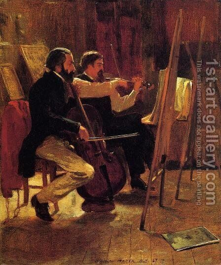 The Studio by Winslow Homer - Reproduction Oil Painting