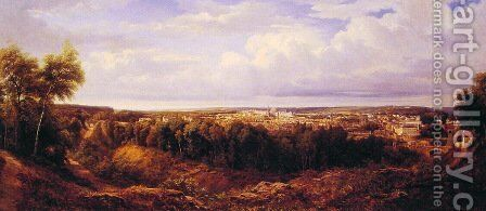 View of the City of Lyon by Edouard Jean Marie Hostein - Reproduction Oil Painting