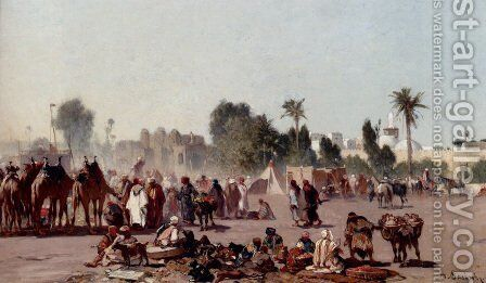 The Traders by Alberto Pasini - Reproduction Oil Painting