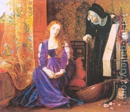 The Pained Heart (aka 'Sigh no more, ladies, sigh no more') by Arthur Hughes - Reproduction Oil Painting