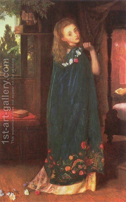 Good Night (later version) by Arthur Hughes - Reproduction Oil Painting
