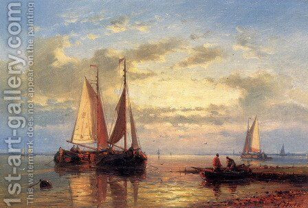 In A Calm by Abraham Hulk Snr - Reproduction Oil Painting