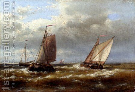 In Choppy Waters by Abraham Hulk Snr - Reproduction Oil Painting
