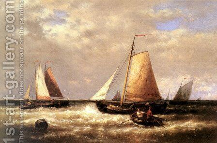 Return of the Fishing Fleet by Abraham Hulk Snr - Reproduction Oil Painting