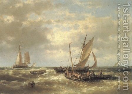 The Fishers by Abraham Hulk Snr - Reproduction Oil Painting