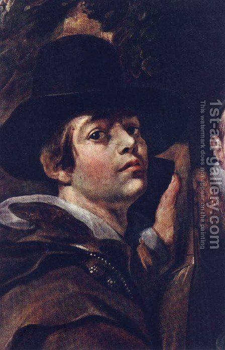 Self Portrait among Parents, Brothers and Sisters [detail] by Jacob Jordaens - Reproduction Oil Painting