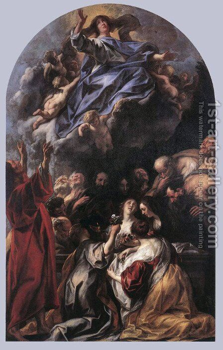 Assumption of the Virgin by Jacob Jordaens - Reproduction Oil Painting