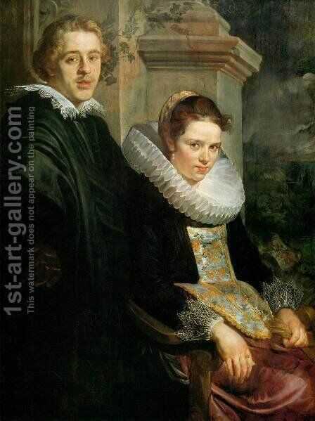Portrait of a Young Married Couple by Jacob Jordaens - Reproduction Oil Painting