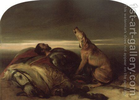 The Faithful Hound by Sir Edwin Henry Landseer - Reproduction Oil Painting