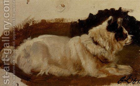 Study Of A Chow by Sir Edwin Henry Landseer - Reproduction Oil Painting