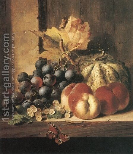 Still Life of Fruit by Edward Ladell - Reproduction Oil Painting