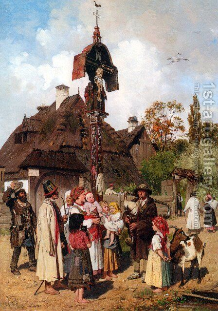Der Dudelsackpfeifer by Anton Kozakiewicz - Reproduction Oil Painting