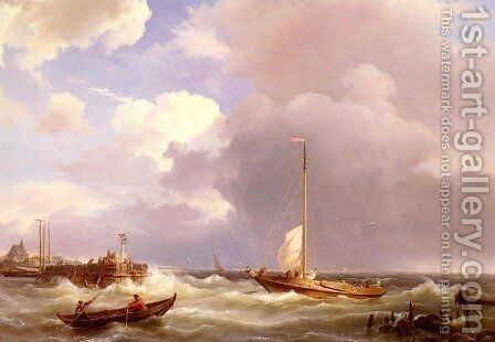 Returning To The Sound by Johannes Hermanus Koekkoek Snr - Reproduction Oil Painting
