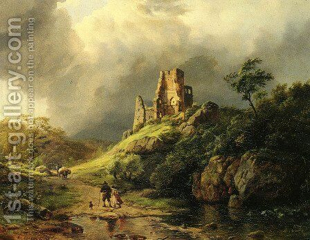 The Approaching Storm by Barend Cornelis Koekkoek - Reproduction Oil Painting