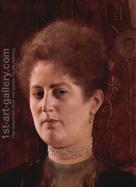 Portrait of a Lady by Gustav Klimt - Reproduction Oil Painting